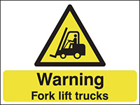 Thumbnail 450x600mm Warning Fork Lift Trucks stanchion sign