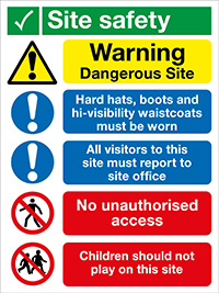 Thumbnail 800x600mm Site Safety No Children Site Safety Board