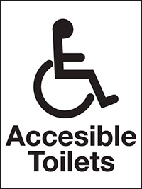 200x150mm Accessible Toilets Washroom sign - rigid