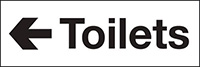 100x300mm Toilets arrow left - Self Adhesive