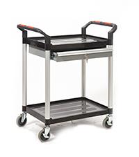 Proplaz  Shelf Trolley - 2 Shelf Trolley With A Lockable Drawer