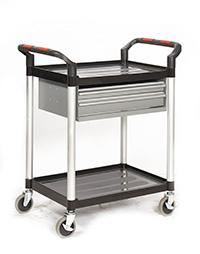 Proplaz  Shelf Trolley - 2 Shelf Trolley With 2 Drawers