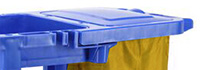 Janitorial Cleaning Trolley - Janitorial Trolley with Bag Lid