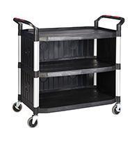 Proplaz  Shelf Trolley - 3 Shelf Enclosed Sides 990L
