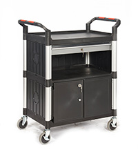 Proplaz  Shelf Trolley - With A Drawer and Cupboard