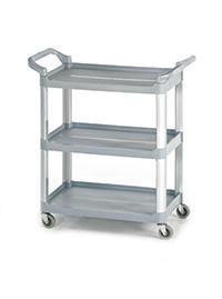 3 Shelf Small Trolley - Grey