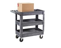 3 Shelf Plastic Service Trolley - 950L