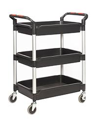 Proplaz  Shelf Trolley with Deep Trays - 3 Shelf