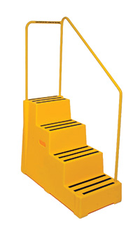 Plastic Handy Steps - 4 Treads with Handrail