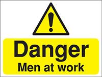 300x400mm Danger Men at work Construction Sign - Rigid