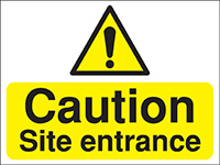 Thumbnail 450x600mm Caution Site entrance Construction Sign - Rigid