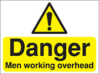 Thumbnail 300x400mm Danger Men working overhead Construction Sign - Rigid
