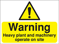 Thumbnail 450x600mm Warning Heavy plant and machinery operating Construction Sign - Rigid