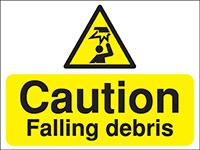 300x400mm Caution Falling debris Construction Sign - Rigid