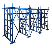 Heavy Duty CUBI - Rack  - 8 Columns with Spacers and Angles