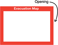 Evacuation Map Insert Sign 240x327mm  Safety Sign