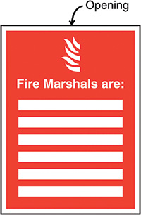 Fire Marshals Are Insert Sign 327x240mm  Safety Sign