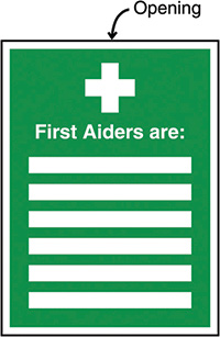 First Aiders Are Insert Sign 327x240mm  Safety Sign