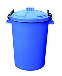 85 Litre Clip Lid Bin - Blue