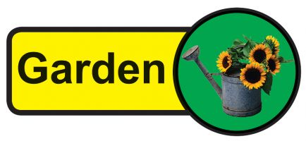 Garden Dementia Sign  210x480mm 1.2mm Rigid Plastic Safety Sign