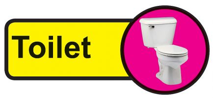 Toilet Dementia Sign  210x480mm 1.2mm Rigid Plastic Safety Sign