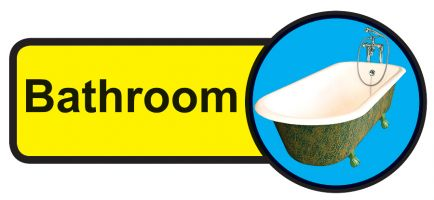 Bathroom Dementia Sign  210x480mm 1.2mm Rigid Plastic Safety Sign
