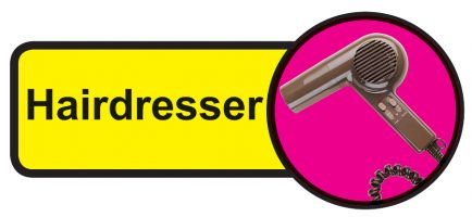 Hairdresser Dementia Sign  210x480mm 1.2mm Rigid Plastic Safety Sign