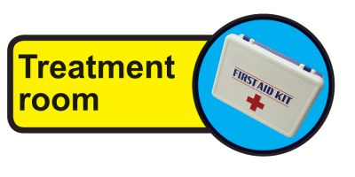 Treatment room Dementia Sign  210x480mm 1.2mm Rigid Plastic Safety Sign