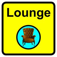 Lounge Dementia Sign 300x300mm 1.2mm Rigid Plastic Safety Sign