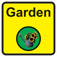 Garden Dementia Sign  300x300mm 1.2mm Rigid Plastic Safety Sign