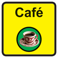 Cafe Dementia Sign  300x300mm 1.2mm Rigid Plastic Safety Sign