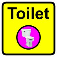 Toilet Dementia Sign  300x300mm 1.2mm Rigid Plastic Safety Sign