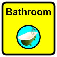 Bathroom Dementia Sign  300x300mm 1.2mm Rigid Plastic Safety Sign