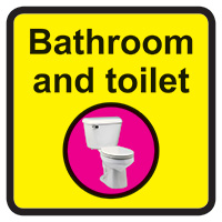Bathroom   Toilet Dementia Sign  300x300mm 1.2mm Rigid Plastic Safety Sign