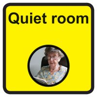 Quiet room Dementia Sign  300x300mm 1.2mm Rigid Plastic Safety Sign