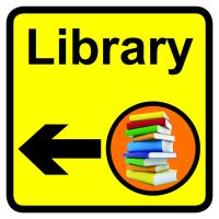 Library Dementia Sign Arrow Left 300x300mm 1.2mm Rigid Plastic Safety Sign