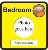 Dementia Magnetic   Room 300x300mm 1.2mm Rigid Plastic Safety Sign