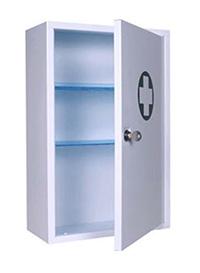 Locking First Aid Cabinet - 46 X 30 X 14 Cm