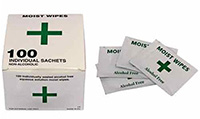 Alcohol Free Cleansing Wipes Pk 100