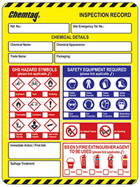 Scafftag Chemtag Inserts Pack of 10