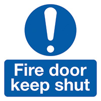 Thumbnail Fire Door Keep Shut  50x50mm Self Adhesive Vinyl Safety Sign Pack of 10