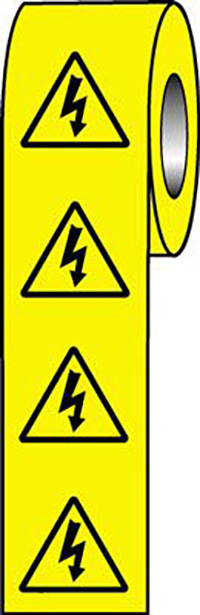 Electrical Symbols  50x50mm Self Adhesive Vinyl Safety Sign