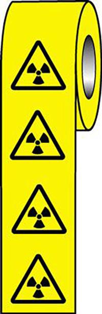 Radiation Symbols  50x50mm Self Adhesive Vinyl Safety Sign