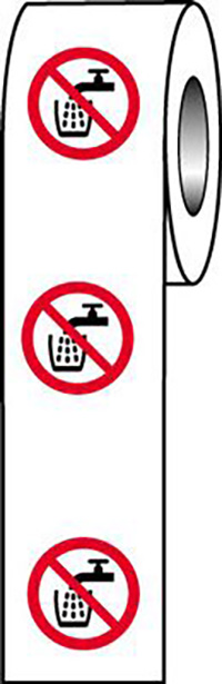 Do Not Drink Symbol  40mm Self Adhesive Vinyl Safety Sign