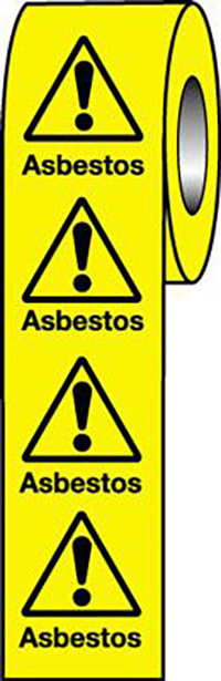 Asbestos  50x50mm Self Adhesive Vinyl Safety Sign