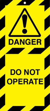 50x110mm Do not operate Lockout tags