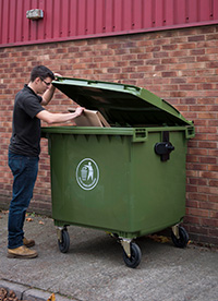 Large Wheeled Bin - 1100 Litre - Available in Dark Grey or Yellow