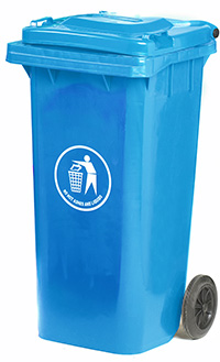 Wheeled Bins - 120 Litres - Available in Blue  Green  Dark Grey or Red/Orange