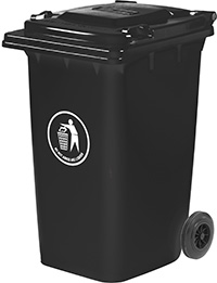 Wheeled Bins - 240 Litres - Available in Blue  Green  Dark Grey or Red/Orange