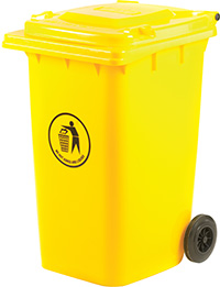 Wheeled Bins - 240 Litres - Yellow